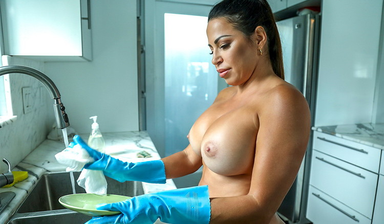MyDirtyMaid/BangBros - Julianna Vega - Cleaning Up The House And The Hard Cock (480p/SD)