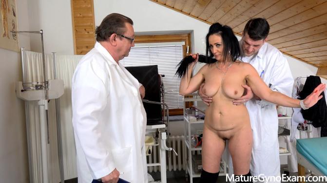 MatureGynoExam.com: Alla Minx aka Lady Masha - Hot mature brunette made to cum in gyno chair by 2 kinky doctor [FullHD 1080p] (BDSM)