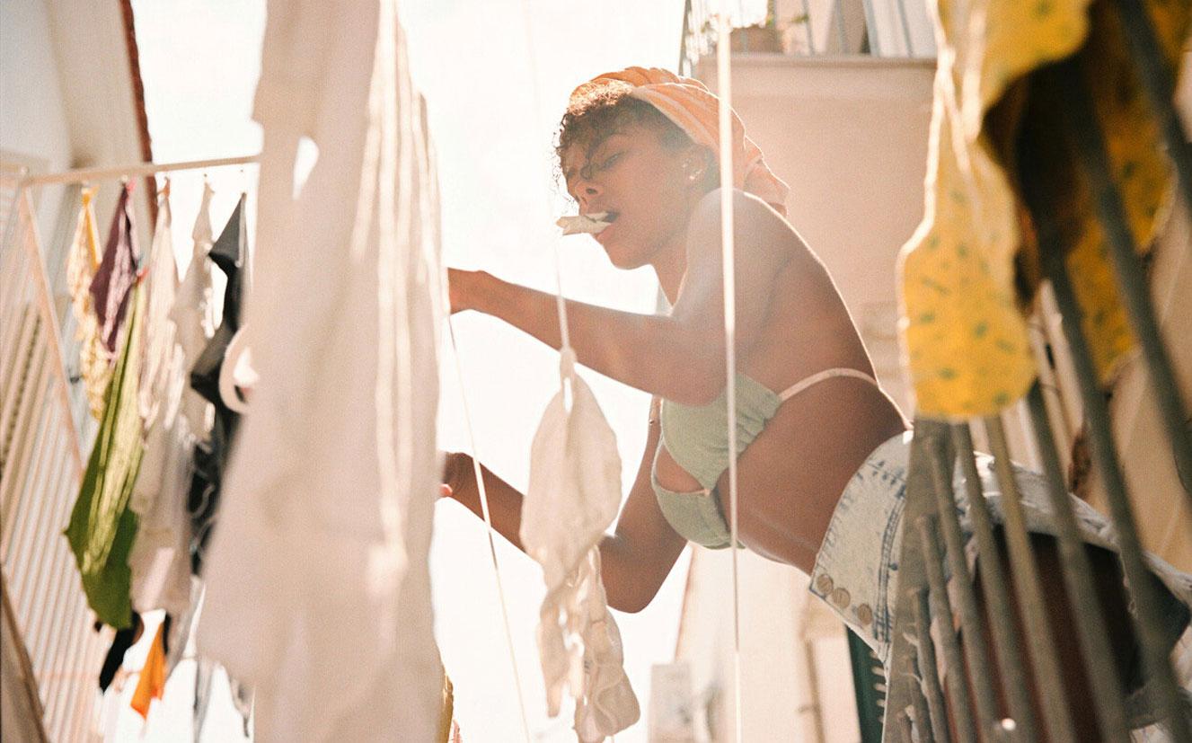 Тина Кунаки в купальниках и пляжной одежде модного бренда Tacoola Vintage, коллекция 2019 года / фото 06