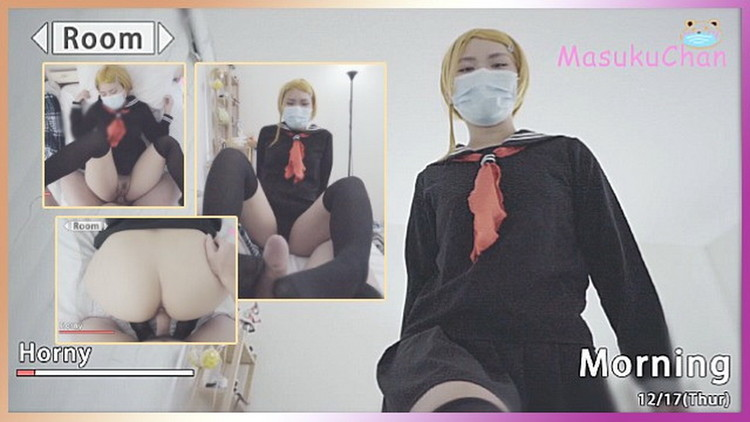 POV Game Style Fuck Cute Sis in School Uniform with Feetjob Blowjob and Cumshot