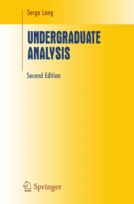 Lang Serge 1997 Undergraduate Analysis