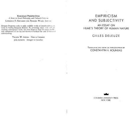 Empiricism And Subjectivity Essays On Humes View Of Human Nature